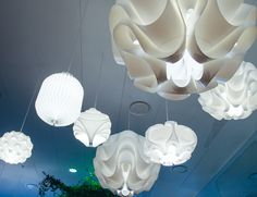 Classic white lighting fixtures by Le Klint