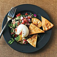 Libanais Breakfast | CookingLight.com #myplate #vegetables #protein #wholegrain