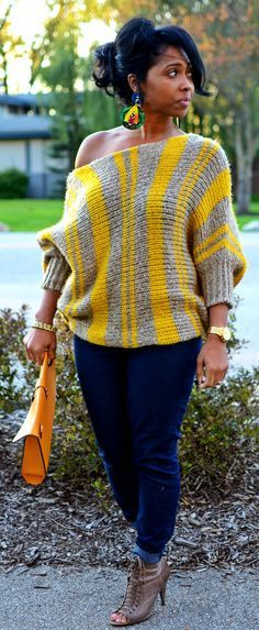 fall sweaters how to wear sweaters, fall sweater looks, sweater off shoulder looks, fall 2013 looks, fall sweater. Chic Outfits, Fashion Outfits, Womens Fashion, Ladies Fashion, Trendy Outfits, Fashion Ideas, Fashion Tips, Fall Winter Outfits, Autumn Winter Fashion