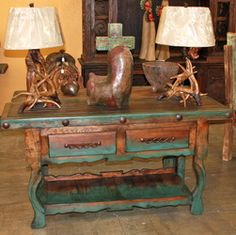 We have a wide array of Western Decor & Southwestern Style Furniture. Visit our … We have a wide array of Western Decor & Southwestern Style Furniture. Visit our showroom today. Mexican Furniture, Western Furniture, Rustic Furniture, Furniture Decor, Painted Furniture, Antique Furniture, Cabin Furniture, Furniture Stores, Furniture Plans
