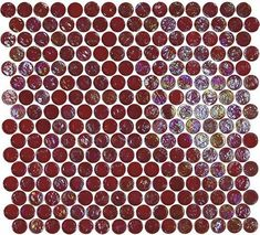 Found it at Wayfair - Geo Glass Circle x Glass Mosaic in Red Mosaic Diy, Mosaic Glass, Mosaic Tiles, Wall Tiles, Mosaics, Penny Round Tiles, Penny Tile, Red Tiles, Best Floor Tiles
