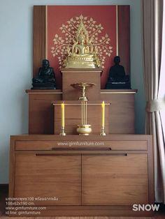 Living Room Tv Unit, Living Room Decor, Temple Room, Zen Interiors, Mandir Design, Altar Design, Asian House, Pooja Room Door Design, Buddha Decor