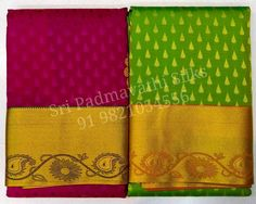 Siddhika Collection - Kancheepuram handloom pure silk sarees with patterned gold zari and drop motifs all over the drape. For weddings and family events. Book now 91 9821054556 Sri Padmavathi Silks, the only South Indian store in Dombivli, India. Kancheepuram handloom pure silk sarees in Mumbai. International shipping available. Wholesale orders accepted. #kanjivaram #kancheepuram #silksaree #silkgold #beautiful #fashion #look #mumbai #matunga #thane #dombivli #wedding #indianwedding #brides