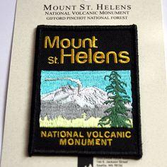 Mount St. Helens National Volcanic Monument Souvenir Patch Washington Park Mt.