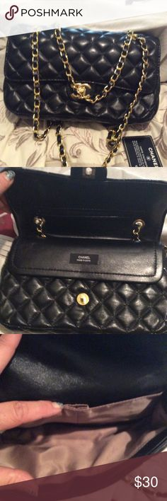 Black quilted bag Preowned, not authentic black quilted bag Bags Shoulder Bags