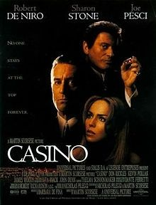Casino - I did not like this movie the first time I watched it in the 90's, but around 2005 I really got into the movie and now watch it three or four times a year.