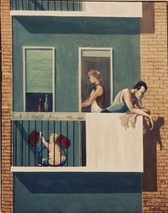 """""""After work.""""  B.R.Barber Milan1969  Oil on canvas 80x100cm"""