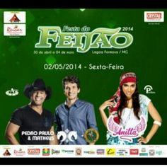 02 de maio em Lagoa Formosa-MG festa do feijão! Pedro Paulo e Matheus www.ppem.com.br