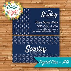 126 best authorized scentsy vendor scentsy business cards images authorized scentsy vendor business cards custom business card blue anchor personalized cards print your own on vistaprint by childoflightdesign on reheart Images