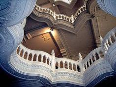 Balconies, Budapest, Hungary  photo via Aegitna