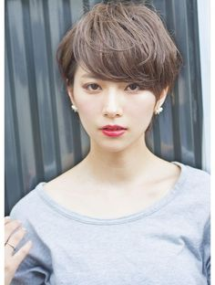 Pin on 髪型 Asian Short Hair, Medium Short Hair, Asian Hair, Girl Short Hair, Short Hair Cuts, Short Hair Styles, Short Hairstyles For Women, Pretty Hairstyles, Hair Arrange