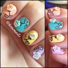 Rose Nail Art #nails #nailpolish #nailaddict #nailartist #nailtech #nailideas #beauty #nailart #nailporn