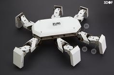 ZURI 236 - ZURI is a programmable robot made from paper and grey cardboard.