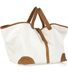 BB canvas and leather tote by Meli Melo