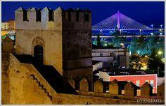 Vista desde la Alcazaba árabe de Badajoz, España