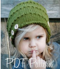 Knitting PATTERN-The Ashlyn Hat(Toddler, Child, Adult sizes)