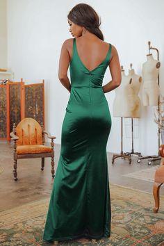 Fitted Prom Dresses, Satin Dresses, Maternity Dresses, Bridesmaid Dresses, Formal Dresses, Velvet Dresses, Bridal Entourage, Green Satin Dress, Hunter Green Dresses