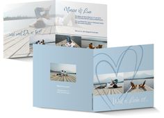 Hochzeitskarte maritim in Himmelblau
