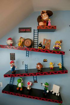 Un Miroir Fait Main En Verre Taillé Hommage à Mario Game Room - Retro games room ideas