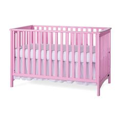 Child Craft London Euro Colors 3-in-1 Convertible Crib - Pink