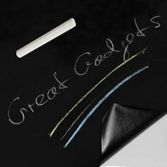 A great big roll of stickable blackboard? Definitely have a use for this in the kitchen.