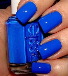 Mezmerised by Essie. Mezmerised by Essie. Mezmerised by Essie. Essie Nail Polish Colors, Bright Nail Polish, Nails Polish, Bright Nails, Essie Colors, Royal Blue Nail Polish, Royal Blue Nails Designs, Cute Nail Colors, Red Nail