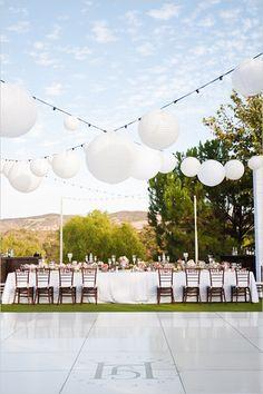 New Ideas backyard wedding dance floor ideas paper lanterns Wedding Events, Wedding Reception, Our Wedding, Dream Wedding, Tent Wedding, Wedding Games, Gothic Wedding, Glamorous Wedding, Weddings