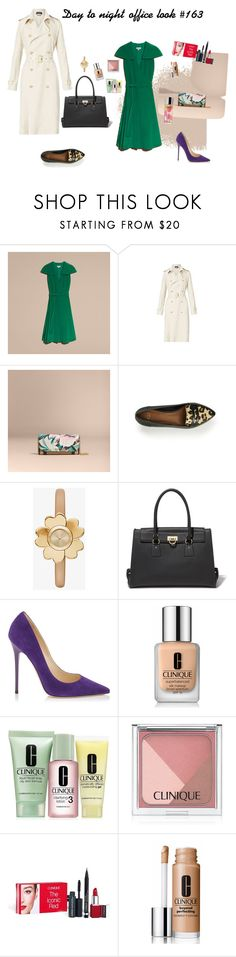 """""""Day to night office look #163"""" by modaelista ❤ liked on Polyvore featuring Burberry, Ralph Lauren, UGG, Michael Kors, Salvatore Ferragamo, Jimmy Choo and Clinique"""