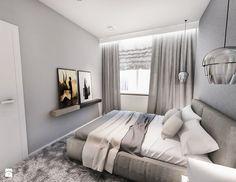 Projekt mieszkania W Warszawie 80 m2 - Średnia sypialnia małżeńska, styl nowoczesny - zdjęcie od BIBI
