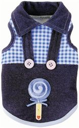 Your darling pooch will look sugar sweet wearing the Lolli Love Overalls by Ruff Ruff Couture®. This original design from Ruff Ruff Couture® combines blue gingham velour with denim and features no-fuss overall straps, custom buttons and an old-fashioned l Dog Overalls, Boy Dog Clothes, Love Couture, Dog Clothes Patterns, Designer Dog Clothes, Couture Accessories, Dog Wedding, Animal Fashion, Pet Dogs