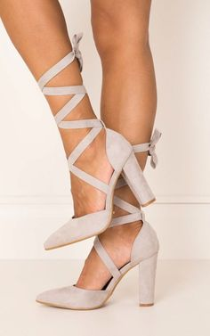 showpo shoes, shoes, grey suede shoes, grey shoes, heels