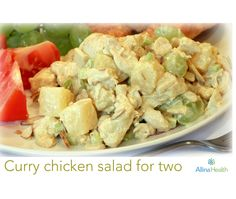 Curry chicken salad for two    Curry (a blend of spices) may decrease inflammation in your body, helping to prevent diseases such as type 2 diabetes, cardiovascular disease and certain types of cancer. http://www.allinahealth.org/Health-Conditions-and-Treatments/Eat-healthy/Recipes/Salads/Curry-chicken-salad-for-two/