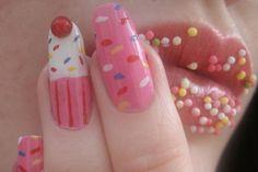 Cupcake Lips and Nails