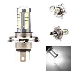 2Pcs Car H4 Led Headlight Bulbs 12W 5630 SMD 6000K 500LM LED Fog Light Headlight Bulb Driving Light Daytime Running Light DRL