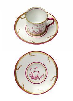 Alberto Pinto Chinoiserie Dinnerware |coffee cup and saucer. Artedona.com