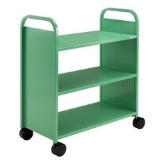 I need this in my office! | Smith System Flat Shelf Book Truck (available in a bunch of colors)