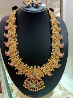 Gold Mango Mala, Antique Mango mala, Traditional Mango Mala, Mango Necklace Latest Design, Mango Mala Latest Models, Gold Necklace Collections.