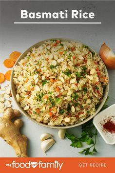 Healthy Living Recipes, Healthy Cooking, Vegetarian Recipes, Cooking Recipes, Indian Food Recipes, Asian Recipes, Basmati Rice Recipes, Rice Side Dishes, Savarin