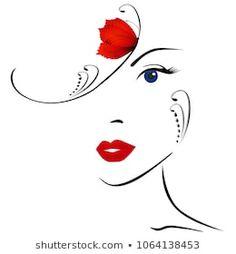 Girl Drawing Sketches, Art Drawings Sketches Simple, Rain Art, Pretty Drawings, Decoupage Art, Silhouette Art, Female Art, Woman Portrait, Ideas