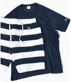 Champion × SHIPS 別注 セットアップ パイル Tシャツ×ショーツ   スニーカーハック