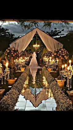 Glamorous Wedding Venues Couples nowadays are often looking to stand out with their wedding. Gone are the days where everyone dreamed of having a big white fairytale; Wedding Stage, Wedding Goals, Wedding Themes, Wedding Ceremony, Destination Wedding, Wedding Venues, Wedding Planning, Wedding Decorations, Wedding Lighting