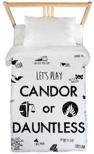 Divergent Candor Or Dauntless Duvet Cover