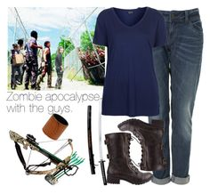 """Zombie apocalypse with the guys."" by welove1 ❤ liked on Polyvore featuring Topshop, Soda and Topman"
