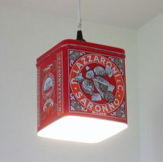 Great way to repurpose and show off old tins!