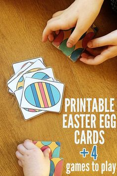Print out your own set of these fabulous, colourful Easter egg playing cards and have fun with four beginner card games for kids.