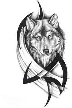 Tribal Wolf Tattoos Designs And Ideas Hello! Here we have great wallpaper about wolf tattoo designs color. We hope these photos can be y. Tribal Tattoos, Indian Feather Tattoos, Tribal Wolf Tattoo, Head Tattoos, Tattoo Feather, Wolf Tattoos Men, Tattoo Animal, Wing Tattoos, Celtic Tattoos