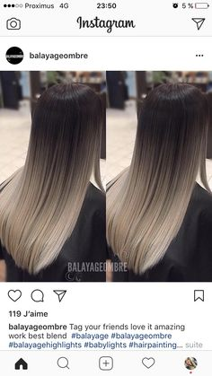 63 stunning examples of brown ombre hair - Hairstyles Trends Brown Hair Balayage, Brown Blonde Hair, Hair Color Balayage, Hair Highlights, Bayalage, Black Hair Ombre, Ombre Hair Color, Gorgeous Hair Color, Ombré Hair