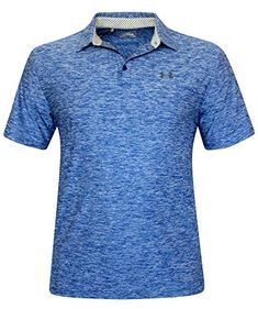 64fe229f59bc Under Armour Mens UA Elevated Heather Golf Polo Shirt Large Sapphire Lake      Check