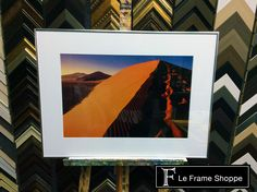 Sometimes a simple #frame and mat choice is all that's needed to make a stunning #photograph stand out. #photography #customframing #leframeshoppe