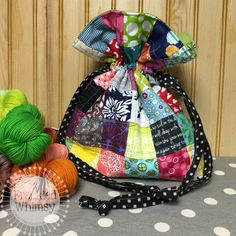 Scrappy Drawstring Bag -- Sewing Tutorial